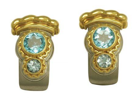 Callista Blue Topaz Earrings
