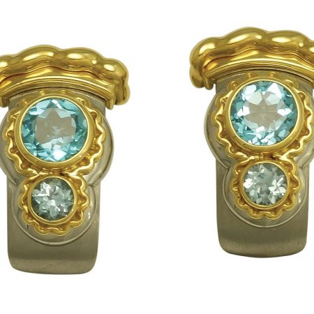 Callista Blue Topaz Earrings