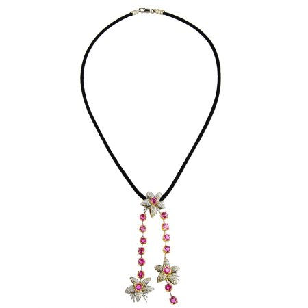 Jasmin Pink Sapphire and Diamond Drop Pendant