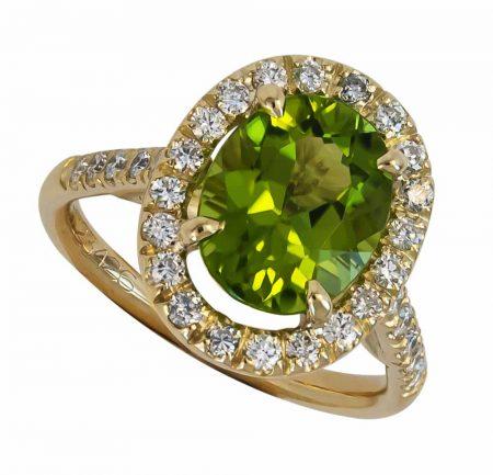 Green Gemstone Ring