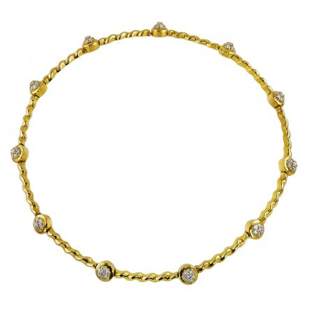 18 K Gold and Diamond Necklace