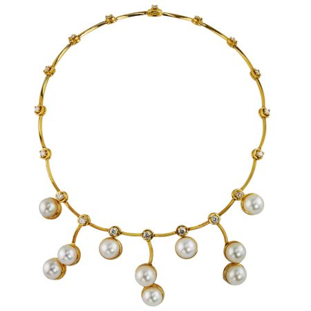 Cascade Cultured Pearl Necklace