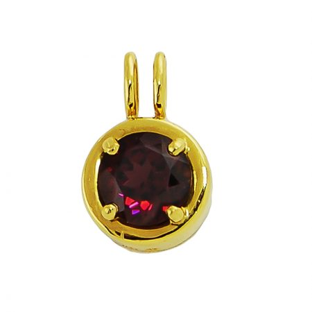 Rhodolite and Gold Pendant