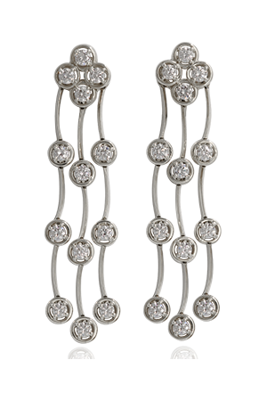 Triple Cascade Diamond Earrings