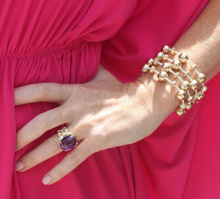 14K Gold Beaded Bracelet