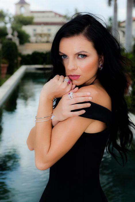 Pink Sapphire and Diamond Jewelry