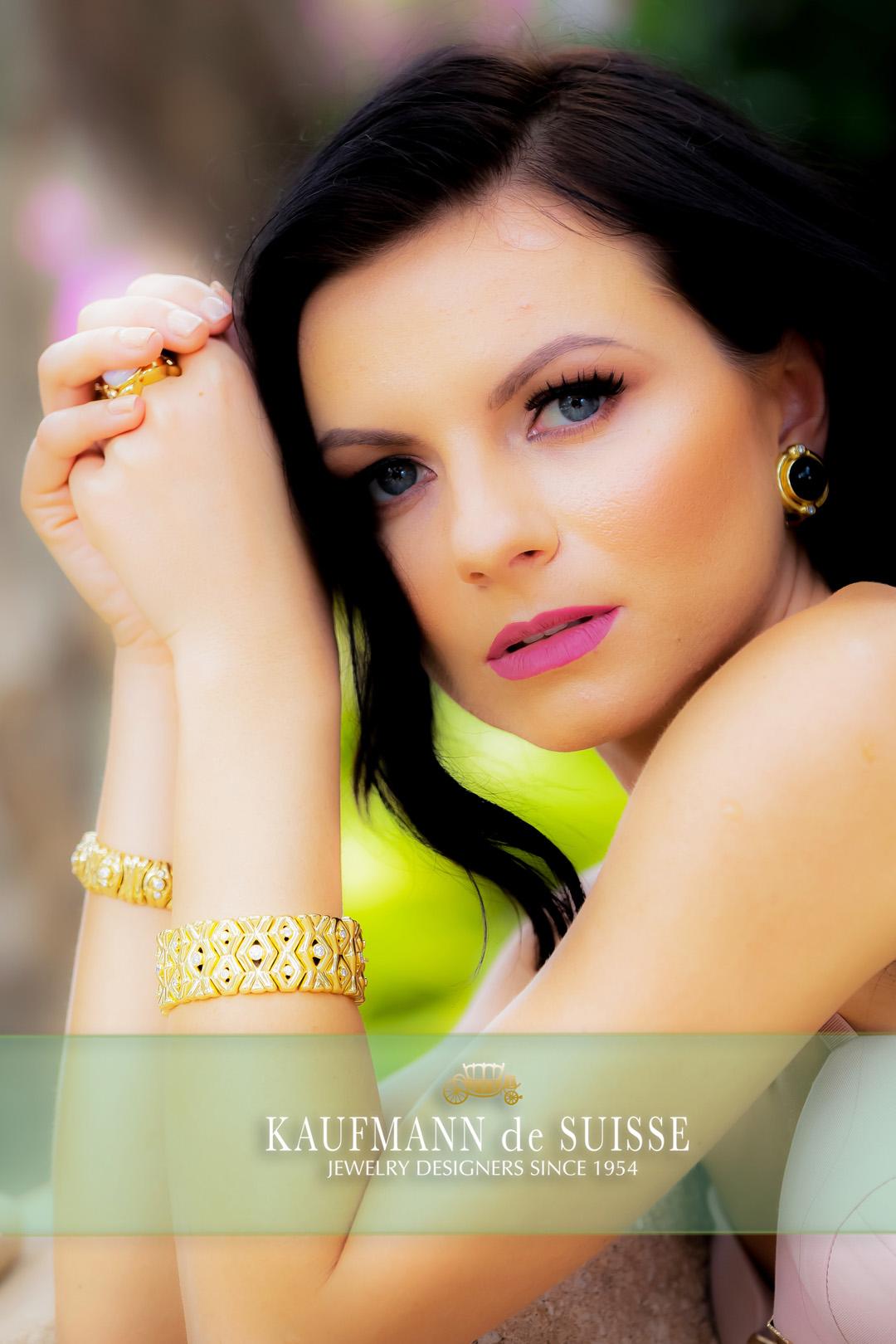 18K Yellow Gold and Diamond Bracelets