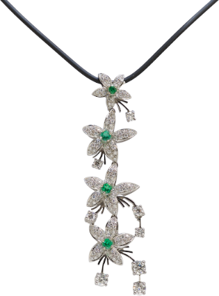 Diamond and Emerald Necklace from the Jasmine Collection at Kaufmann de Suisse