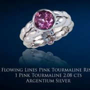 Flowing Lines Pink Tourlamine Ring