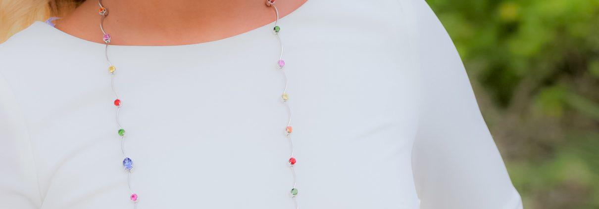 Multi Gemstone Cascade Necklace