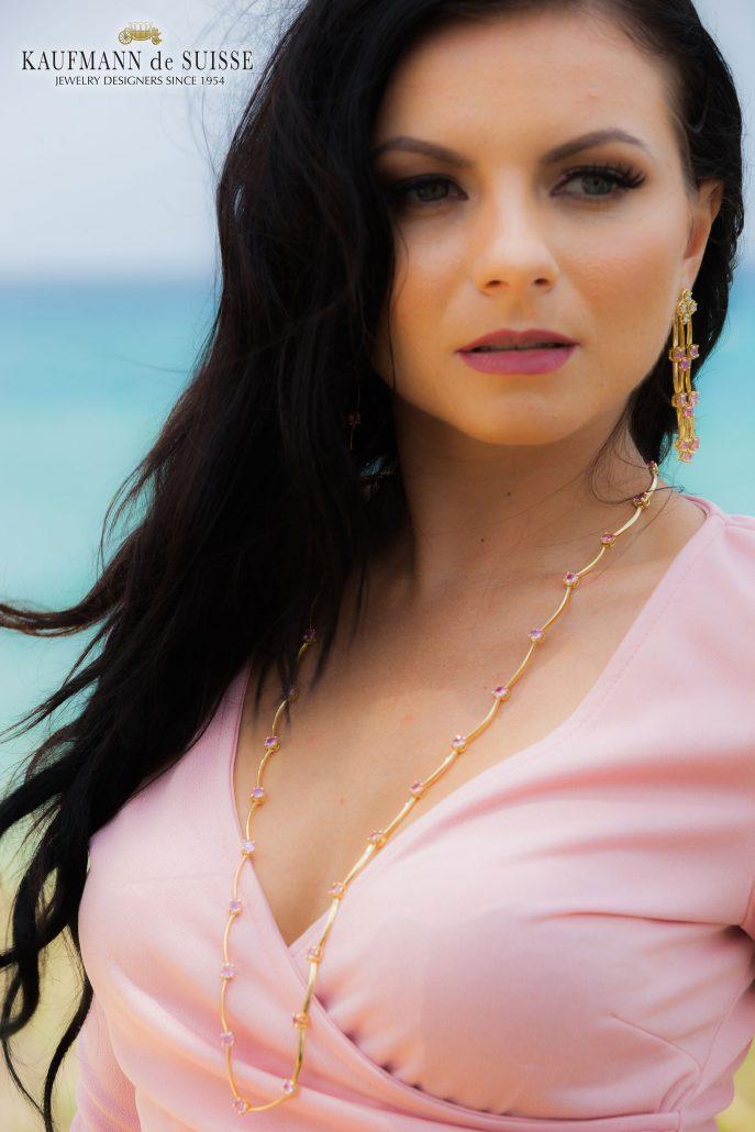Cascade Pink Sapphire Necklace
