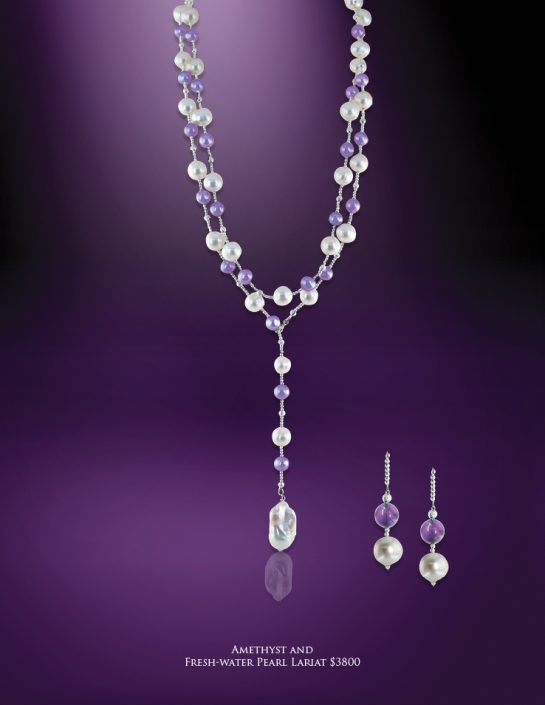 The Palm Beach Lariat in Amethyst
