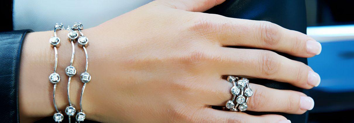 Triple Cascade Diamond Bracelet and Ring