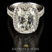 Beautiful Cushion Cut with Pave Diamond Engagement Ring