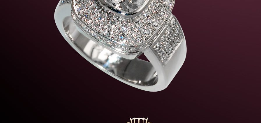 1.5 CTS Diamond Ring with Pave