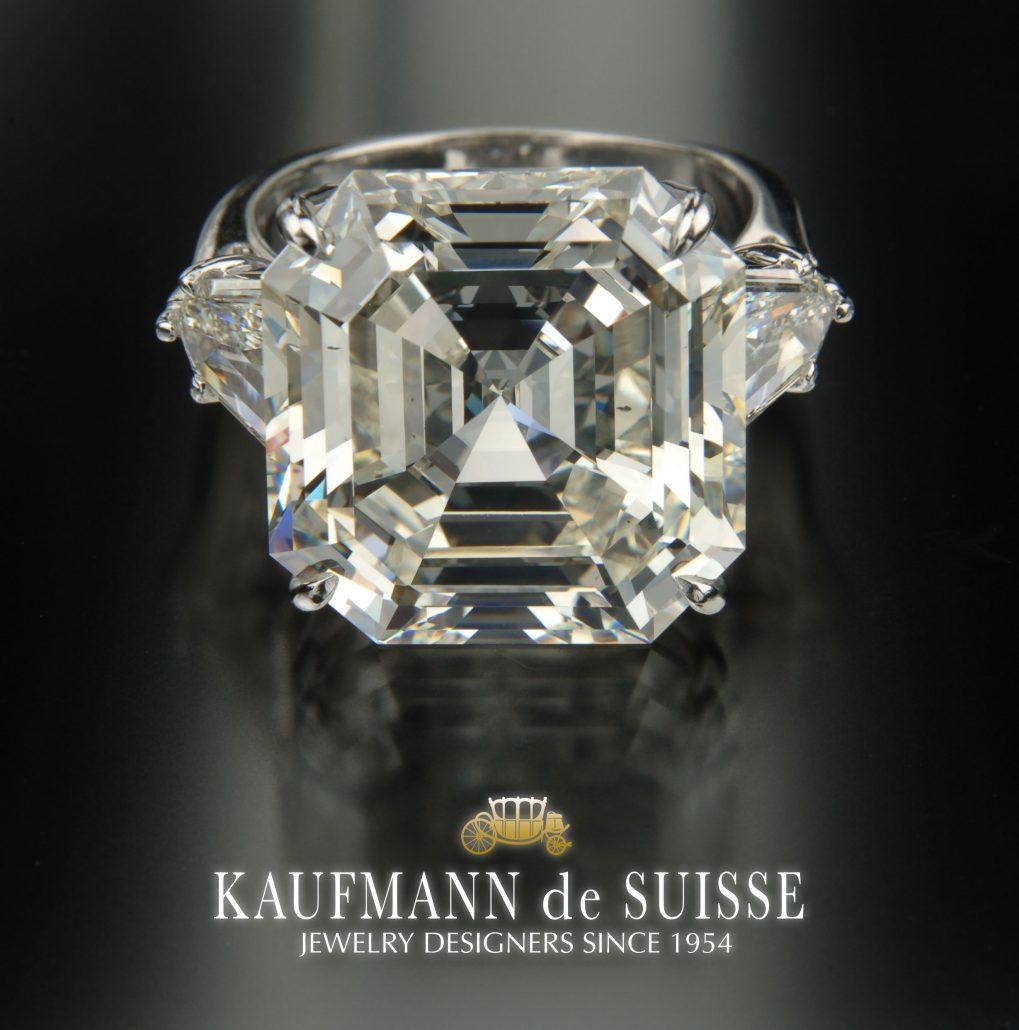 Outstanding Asscher Cut Diamond Ring