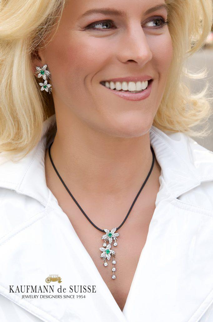 Jasmine de Nuit Emerald and Diamond Necklace