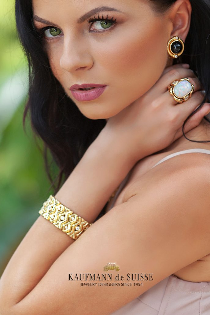 18K Gold, Diamond and Opal Jewelry