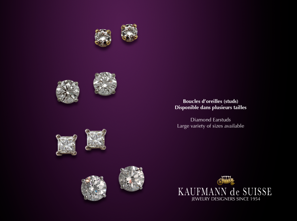 Gorgeous classic diamond stud earrings
