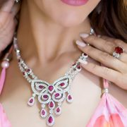 Incredible Ruby and Diamond Necklace