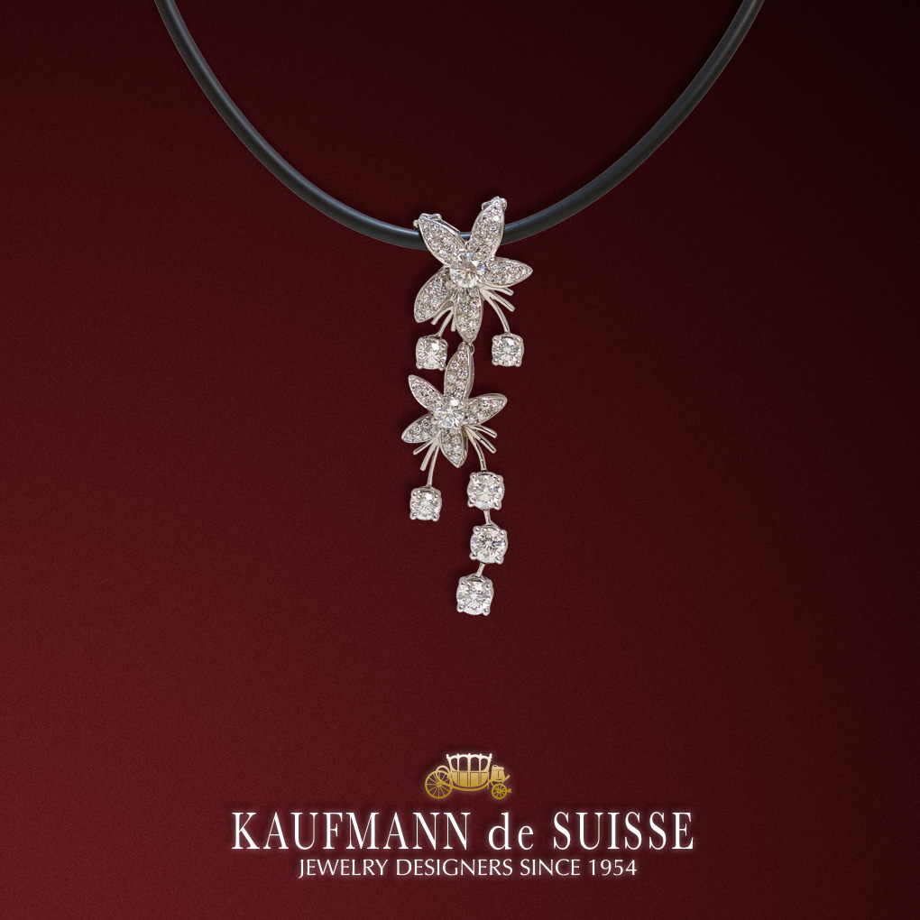 Diamond Jasmine de Nuit Diamond Pendant