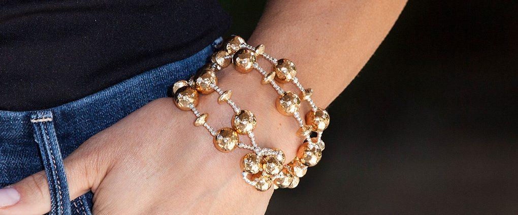 14K Gold Lariat Wrap Bracelet