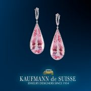 Morganite & Platinum Earrings