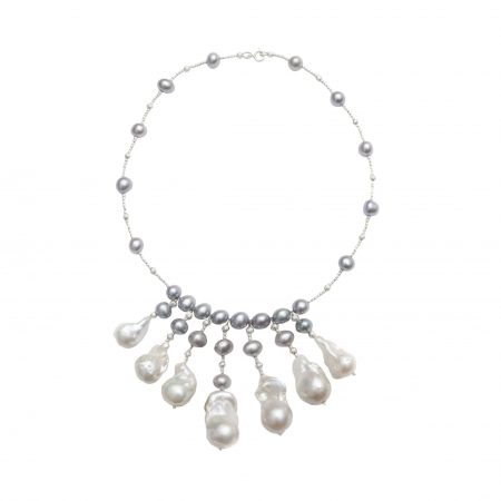 The Lucky Seven Baroque Pearl Drop Necklace