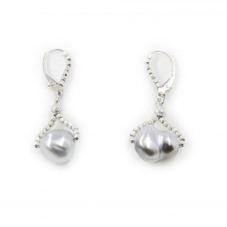 South Sea Baroque Drop Earrings