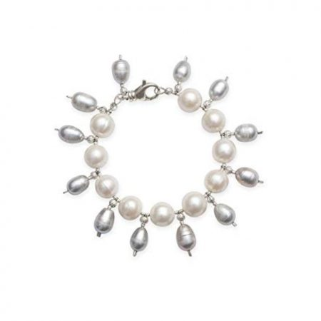 White and Grey Freshwater Pearl Bracelet