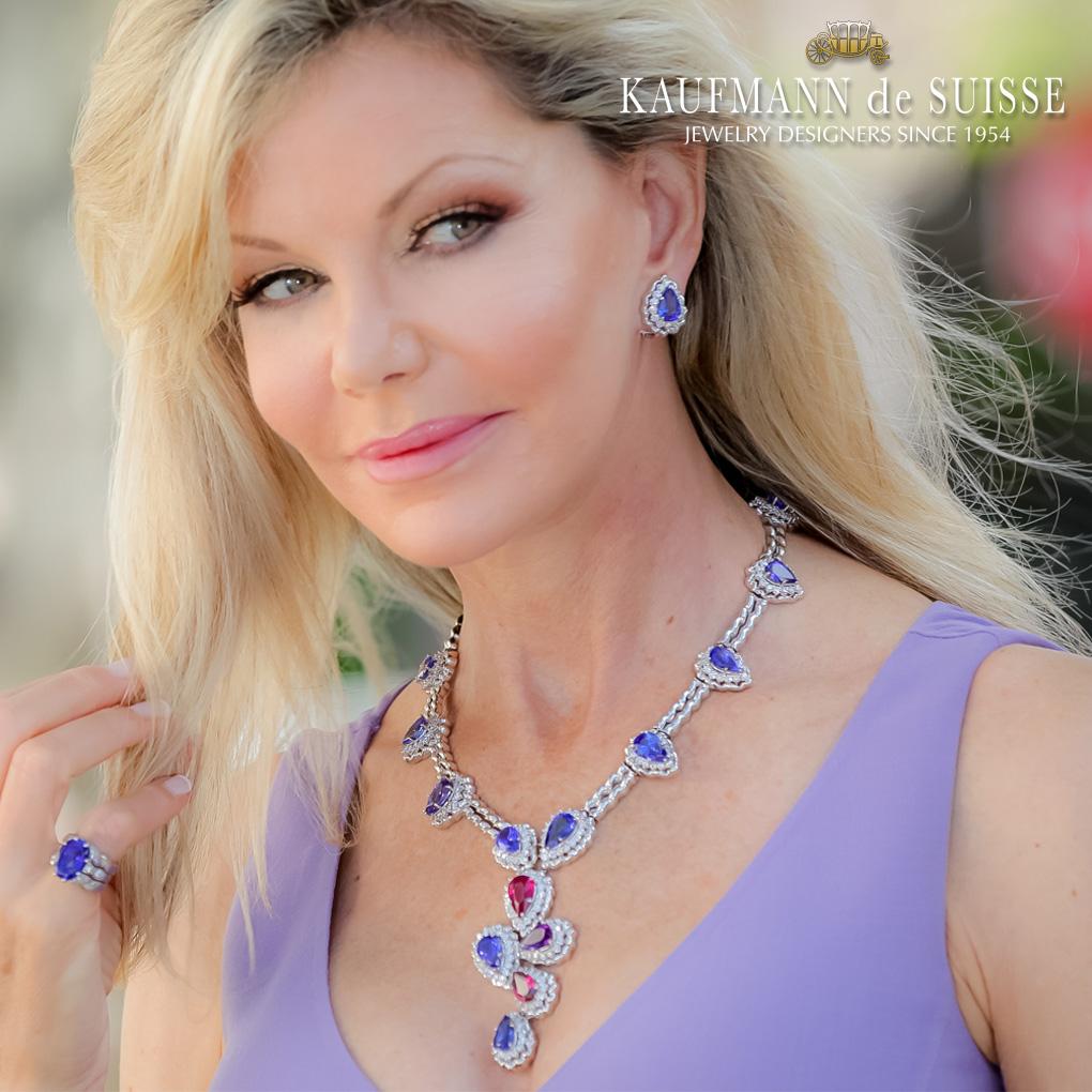Tanzanite and Diamond Necklace